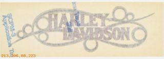Harley Davidson Decal 14162 87