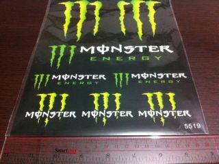 A208 Kawasaki Monster Logo ZX 636 6R 9R 10R 12R 14R Sticker Decal not