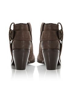 Dune Packmoor Chunky Buckle Ankle Boot Brown