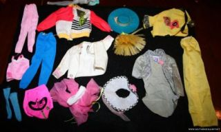 Vintage Huge Lot of Barbie Ken Dresses Pants Shirts Clothes