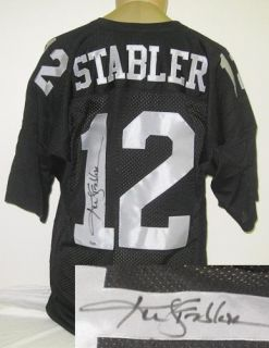 Ken Stabler Autographed Oakland Raiders Jersey