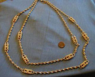 Jacqueline Kennedy Gold Tone Paper Clip Necklace