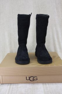 UGG Australia Kenly Womens Black Tall Suede Boots Side Zip Size 5