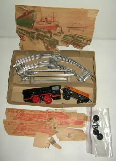 Vintage Keim West Germany O Scale Wind Up Tin Train Set