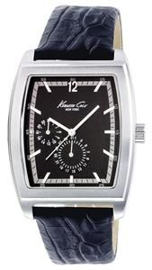 KC1696 Kenneth Cole New York Mens Date Display Leather Strap Watch RRP