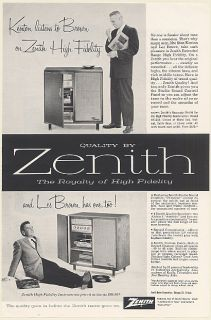 1957 Stan Kenton Les Brown Zenith Rhapsody Hi Fi Radio Model HF1284