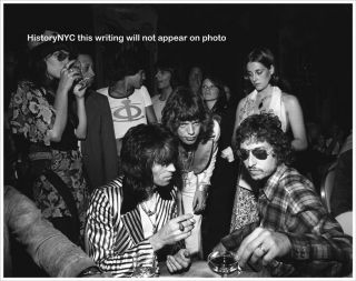 Bob Dylan Mick Jagger Keith Richards at Party Photo