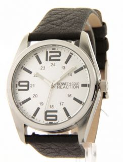 RK5107 Kenneth Cole Reaction Black Brown Leather Bands Mens Watch