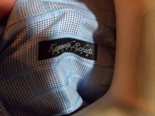 Kenneth Roberts Platinum Long Sleeve Mens Button Shirt Plaid Cotton Sz