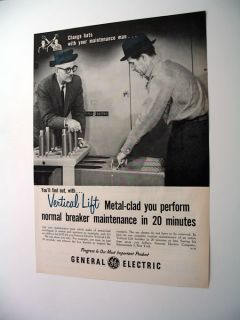GE General Electric Vertical Lift Switchgear Print Ad