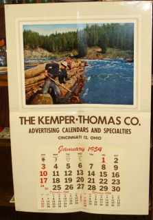 Vintage 1954 Kemper Thomas Adv Calendars Cinn. OH Salesmans Sample