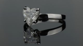 Carat Natural Diamond Ring Heart Cut Engagement Wedding Solid White