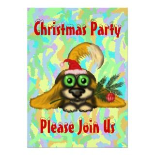 Cute dog Christmas party invitation card design