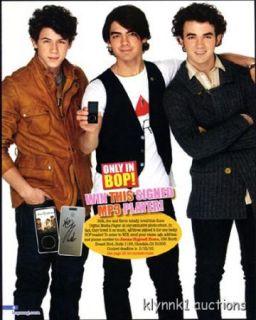 Jonas Brothers Pinup Joe Kevin Nick Jonas Full Page Pinup P873