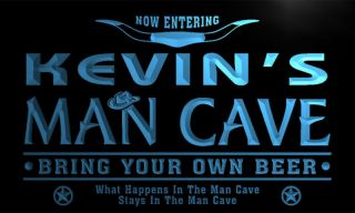 PB023 B Kevins Man Cave Beer Bar Room Neon Light Sign