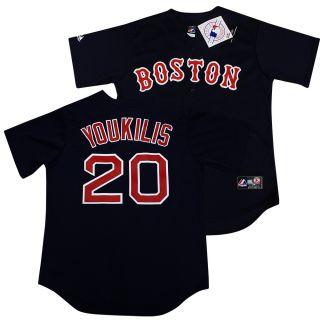 Boston Red Sox Kevin Youkilis Navy Sewn Jersey L