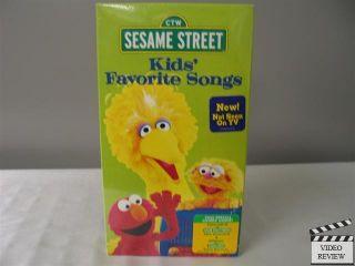 Sesame Street Kids Favorite Songs VHS New SEALED 074645159133