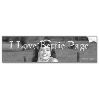 Bettie Page with a Beautiful Smile and Legs Pinup bumper stickers by