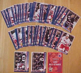2005 AHL Hockey All Star Classic 48 Trading Card Set Loaded