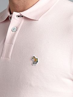 Paul Smith Jeans Zebra logo regular fit polo Pink