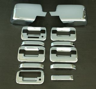 2004 2008 Ford F150 5D Chrome Door Handle Mirror Tailgate Covers B