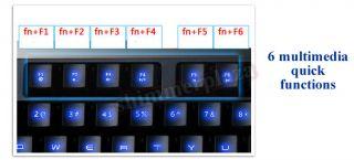 New Illuminated Keyboard USB LED Backlit Light Up Multi Media Games