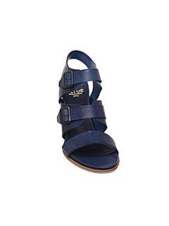 Bertie Fancie Multi Strap Buckle Sandals Blue
