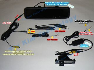 Wireless Reverse Camera Kit Car for Kia Rio 2012