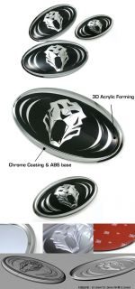 Hood Trunk Horn Emblem 3ea 1set for Kia 2007 2012 Rondo Carens