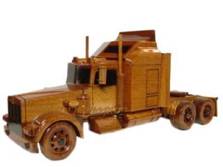 Kenworth Semi Tractor Trailer Truck Wooden Wood Mahogany Desk Display