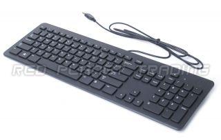 New Genuine Dell Black USB Wired Slim Quiet Keyboard 104 Key QWERTY