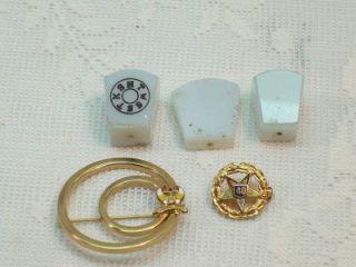 Masons Antique HTWSSTKS Keystones Shriner Pin Eastern Star Old