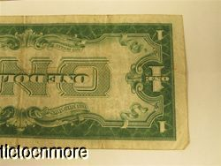 US 1928 B 1928 A $1 One Dollar Bill Silver Certificate Funnyback Notes