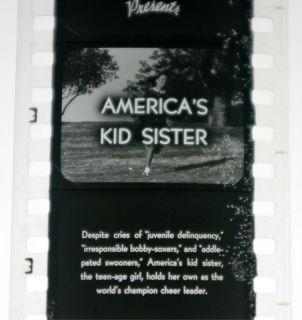 50s Coronet Magazine Slide Film Filmstrip Americas Kid Sister