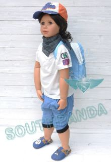 KP002 Blue Fashion Boy Kids Childish Pants Age 2 3