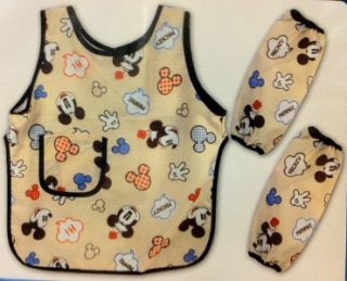 Mickey Mouse Kids Children Kitchen Apron Arm Cover Child Size