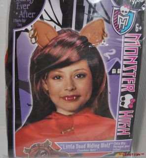 New Monster High Clawdeen Wolf Child Costume Wig Dress Up Fancy Dress