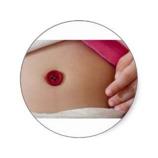 Baby belly button round stickers