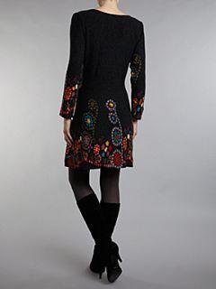 Sodamix Floral print dress Black