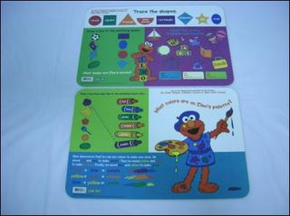 Sesame Street Place Mats for Kids Shapes Colors