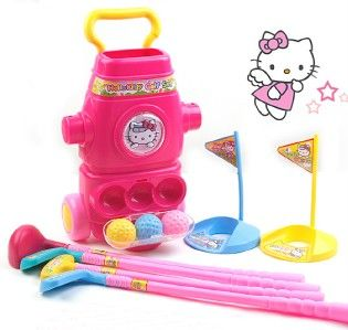 HELLO KITTY GIRLS GOLF CLUB SET KIDS GIFT INDOOR