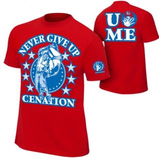 John Cena Red Persevere Kids WWE T Shirt Boys
