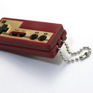 Nintendo Controller Light Model Keychain Part1 Famicom Controller