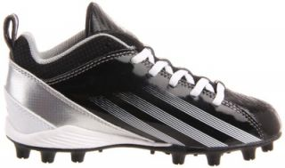 Adidas Kids Blast 3 MD 5 8 J Football Cleats Black White Silver Size