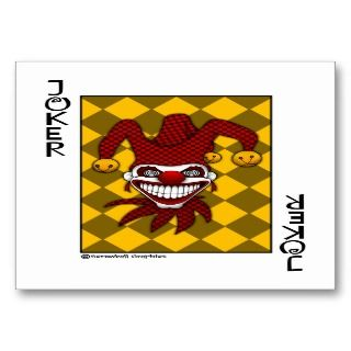 Joker Playing Card (Revised) Business Card Template