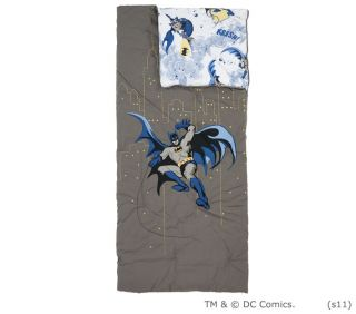 POTTERY BARN KIDS BATMAN SLEEPING BAG *WILLIAM* NEW SUPER HERO DARK