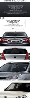 Kia Sorento 2011 T Logo Decal Decals Sticker