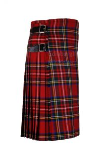 Tartan 100 Wool Kilts Traditional Scottish 5 Yard Casual Kilts