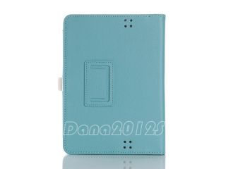 For  Kindle Fire HD 7 Lt Blue Leather Stand Case Cover