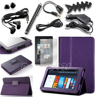 For  Kindle Fire 1&2 7 7 inch PU Leather Stand Case Cover
